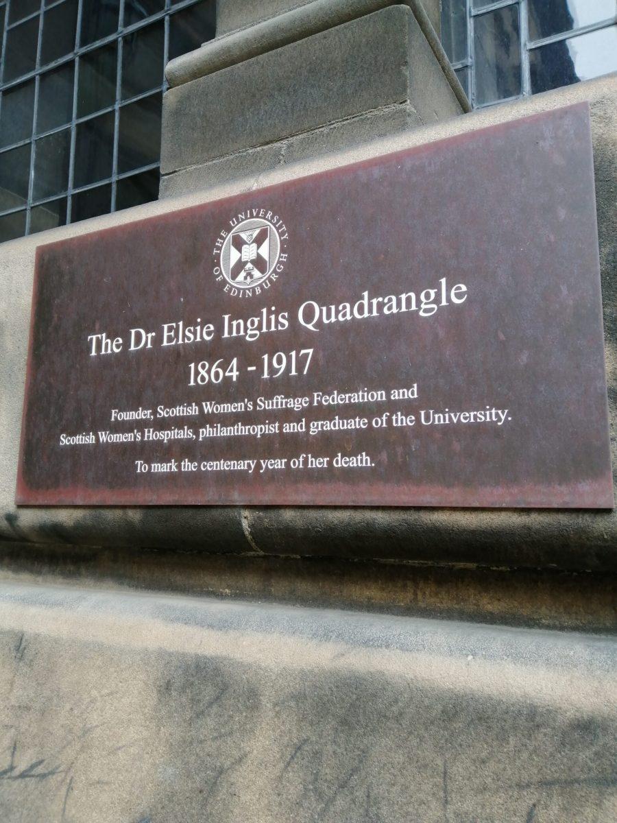 Elsie Inglis Quadrangle Plaque